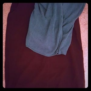 Plus Suede Skirt